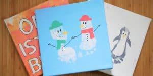 Last Minute DIY Weihnachtsgeschenke basteln – Fußabdruckbilder