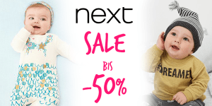 Next SALE gestartet! Bis -50% Rabatt auf über 3500 Baby- und Kindersachen