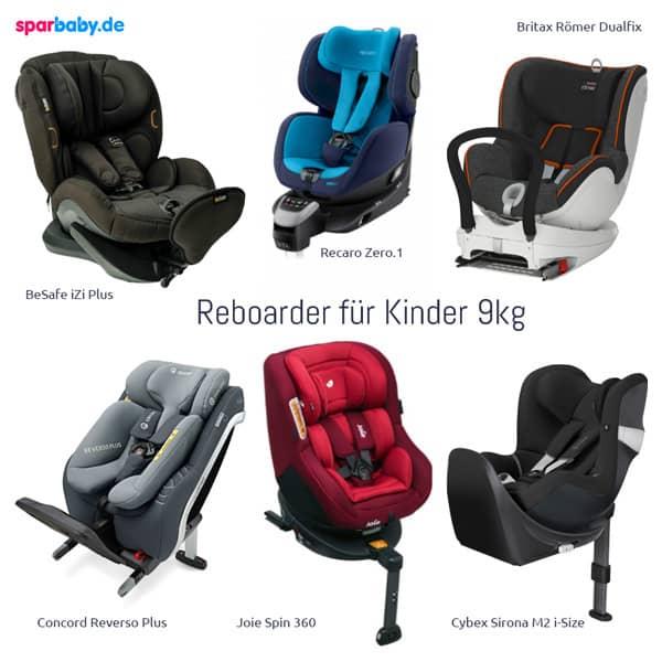 Reboarder - Modelle für Kinder unter 9 Kilo