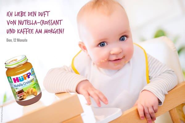 Der kleine Ben liebt besonders die Geschmacksrichtung Nutella-Croissant (© Sparbaby/HüPP/Thinkstock)