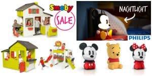 SALE: Philips Disney Lampen / Disney Baby / Smoby Outdoorspielzeug bis -44% reduziert