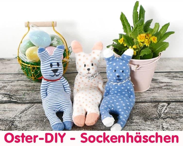 DIY Ostergeschenk – süße Sockenhäschen basteln – Anleitung › Sparbaby.de