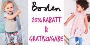 Boden: Exklusiver Gutschein 20% Rabatt + gratis Täschchen