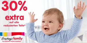 Ernsting's family: 30% Rabatt auf ALLE bereits reduzierten Artikel!