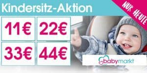 Babymarkt – Gutschein: Spare heute bis zu 44€ auf alle Kindersitze
