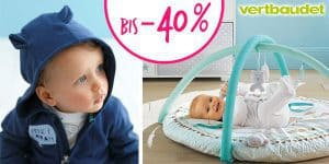 SALE-Start bei Vertbaudet: Kinderkleidung, Babyzimmer und Umstandsmode bis -40% reduziert