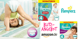 PAMPERS-Schnäppchenchance – Monatspacks im Blitzangebot