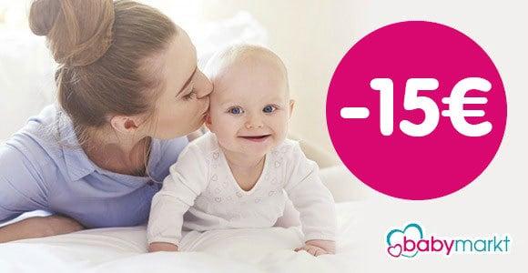 Babymarkt - Gutschein: Spare heute 15€ auf fast ALLES*