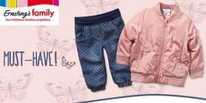 Neu bei Ernsting's family: süße Baby- und Kindersachen