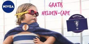 "NIVEA: Gratis großes Badehandtuch ""Helden-Cape"""