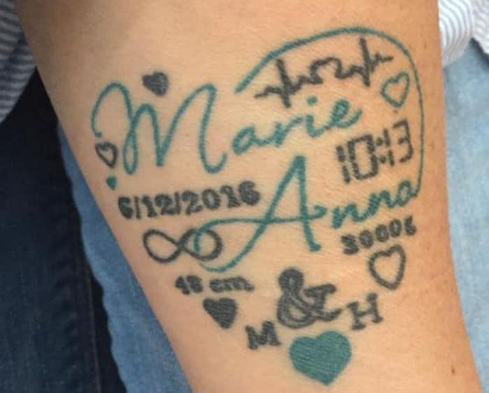 Tattoo namen unterarm