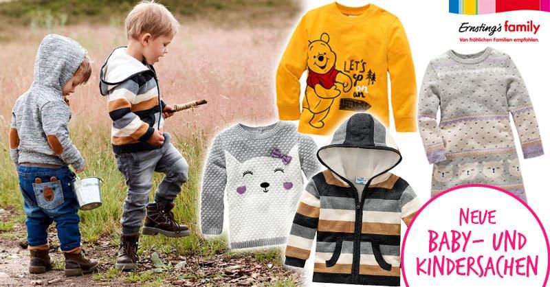 Ernsting's: Neue Herbstsachen für Mädchen und Jungen