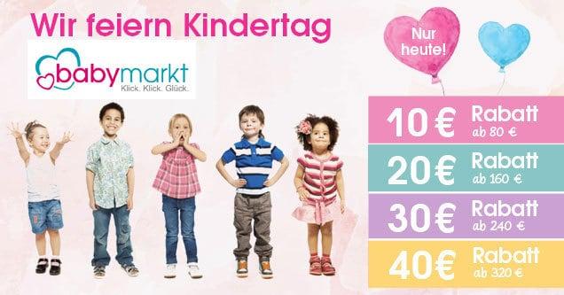 Babymarkt: Große Aktion mit bis zu 40€ Rabatt (nur heute)