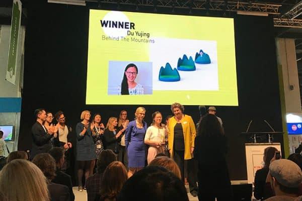 Kind und Jugend 2017: mit dem Kids Design Award werden international die besten Nachwuchsdesigner präsentiert, hier die Gewinnerin Yujing Du aus China