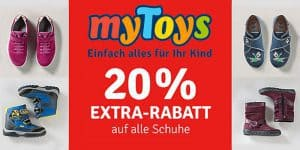 myToys: 20% Extra-Rabatt auf alle Schuhe – auch bereits reduzierte!