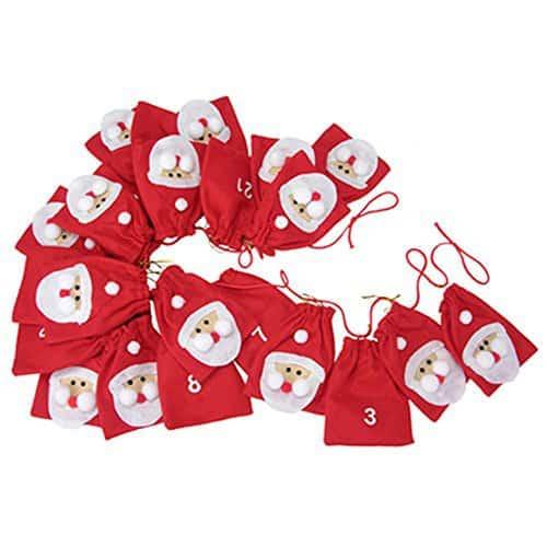 Adventskalender aus Filz Weihnachtsmann 2,4 m zum hängen links nach rechts