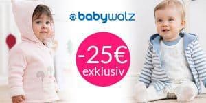 Babywalz: EXKLUSIV 25€ Rabatt auf alles*