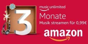 Top-Angebot: Amazon Music Unlimited – unbegrenzt Musik und Hörspiele für 3 Monate nur 0,99€ statt 27,99€