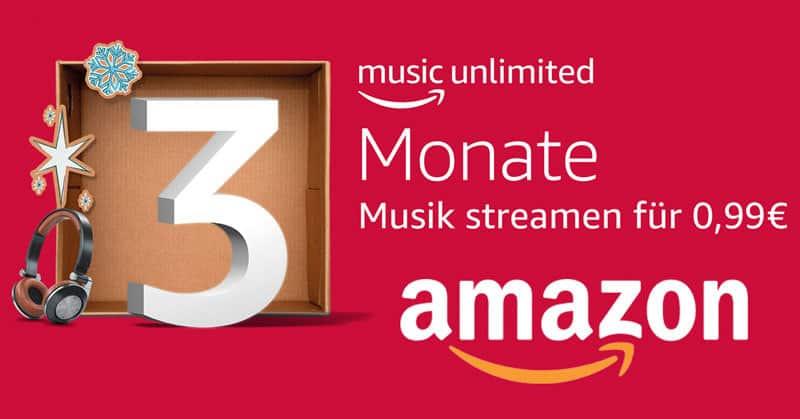 Top-Angebot: Amazon Music Unlimited - unbegrenzt Musik und Hörspiele für 3 Monate nur 0,99€ statt 27,99€