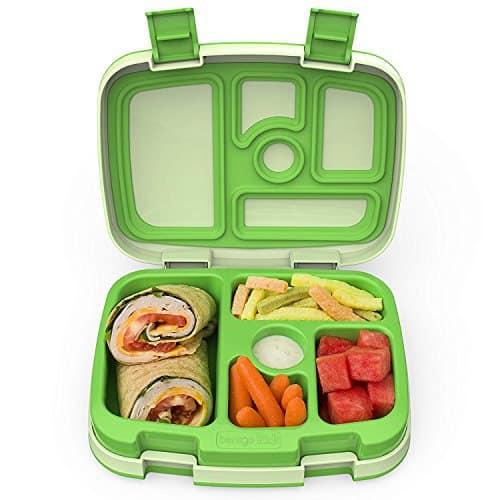 Bentgo Kids – Kinder Lunchbox / Bento Box / Brotdose mit 5 Unterteilungen, auslaufsicher (Grün)