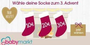 Babymarkt Adventsrabatt: Spare heute bis -30€ auf alles*