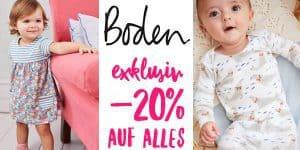 Boden Sale: -20% Rabatt auf alle Kindersachen (nur für kurze Zeit)