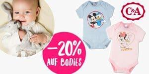 C&A: -20% Rabatt auf alle Baby-Bodies