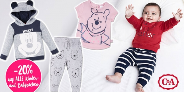 C&A: Heute -20% auf ALLE Baby- und Kindersachen!
