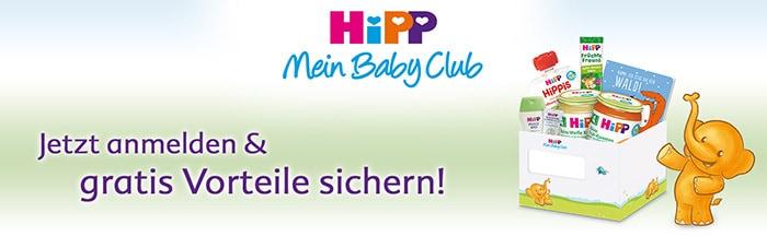 Hipp Mein Babyclub - anmelden und gratis Vorteile sichern