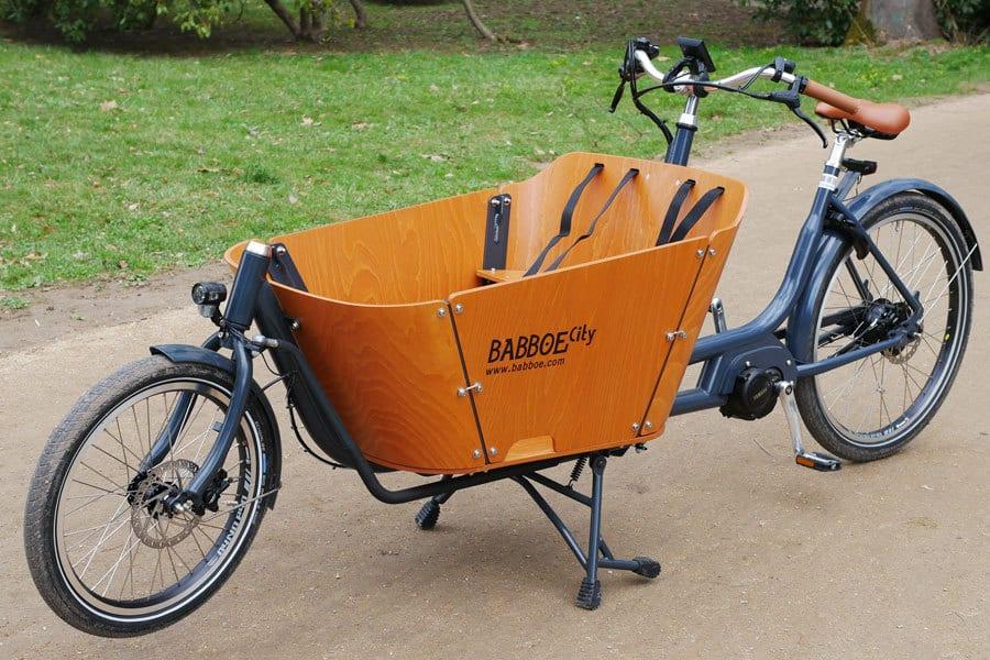 Das Babboe Lastenrad wird mit einem Mittelmotor angetrieben.