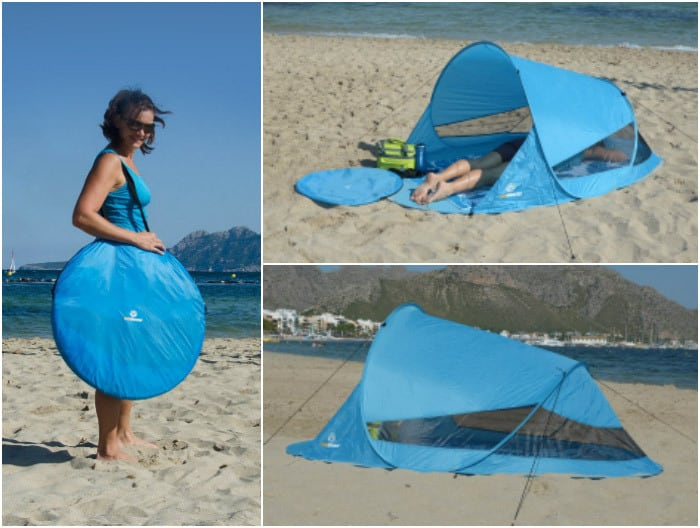Pop-Up Strandmuschel (Bild: Outdoorer / Amazon)