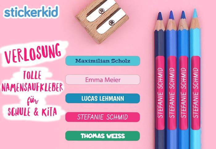 Namensaufkleber für Schule und Kita