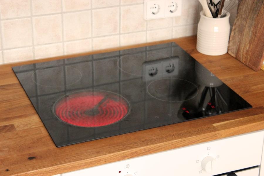 heiße Herdplatte Küche