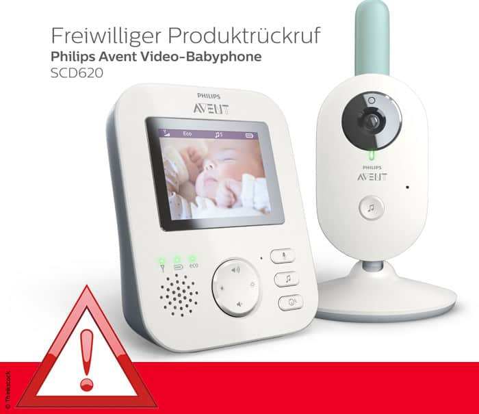 Rückruf: Philips Avent Video-Babyphone SCD620
